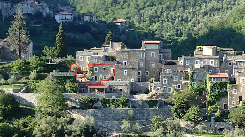 Apartment in Medieval stone village - Castelbianco - Lägenhet
