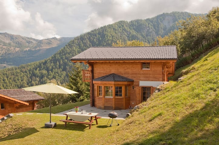 Lovely summer mountain & ski chalet La Tzoumaz
