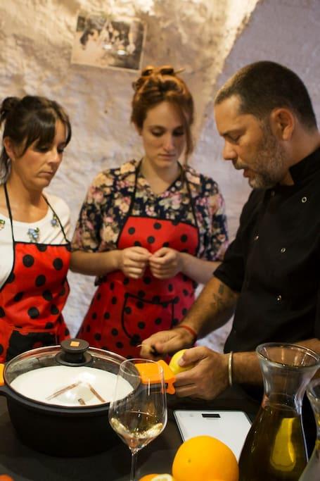 Learning the secrets of Crema catalana.