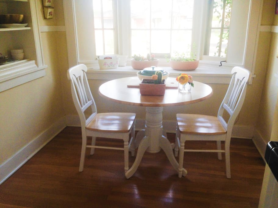 Bright breakfast nook.