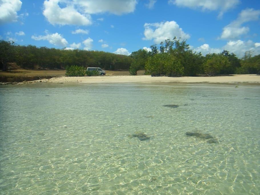 un spot sauvage en Guadeloupe