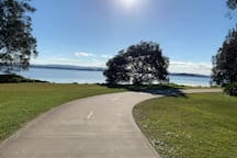 Lake Macquarie is just at the end of our street and this is just one of the many beautiful walking paths!  This one leads to Coon Island