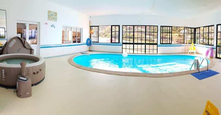 Villa with 3 bedrooms in Porto da Cruz, with wonderful sea view, private pool, enclosed garden - 300 m from the beach