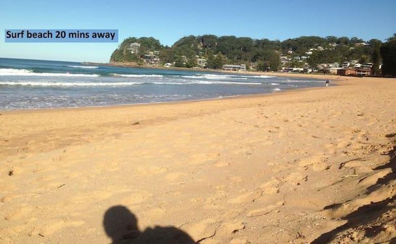 surf beach 20 mins.