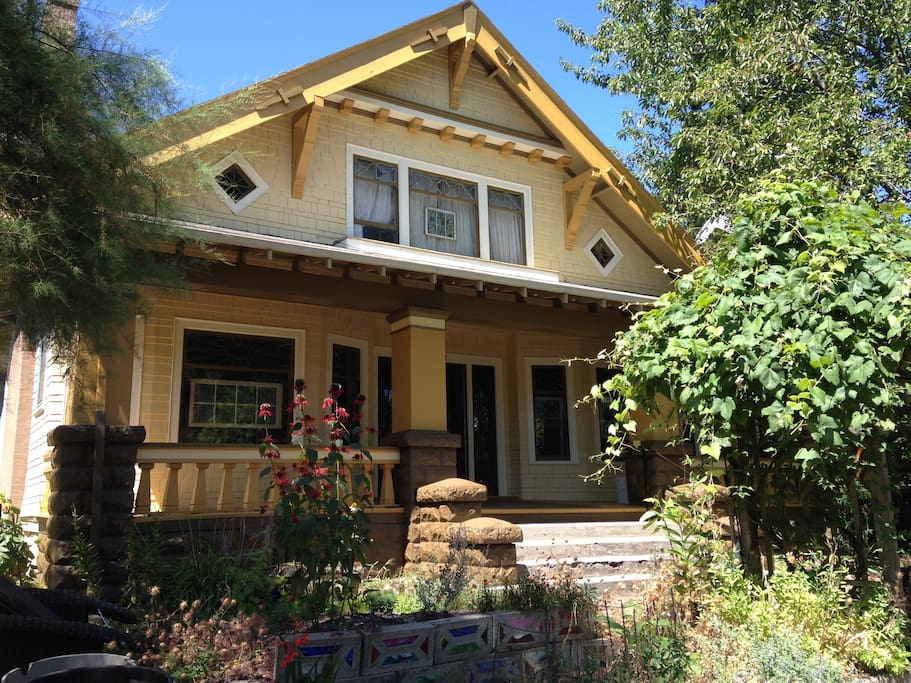 Our 1910 Craftsman Bungalow. Make yourselves at home in your private suite!!