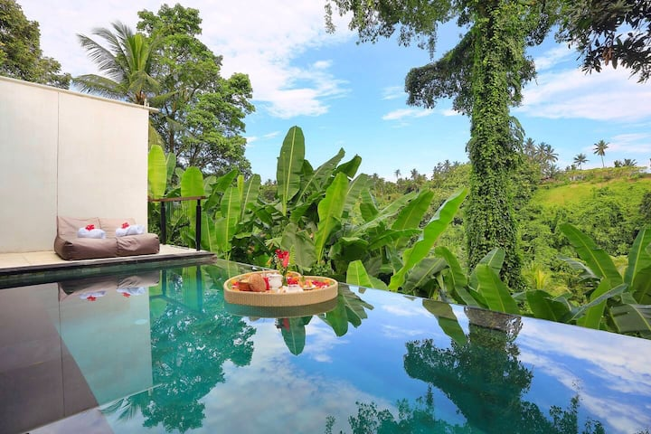 Ubud Private Pool Villa with Valley View