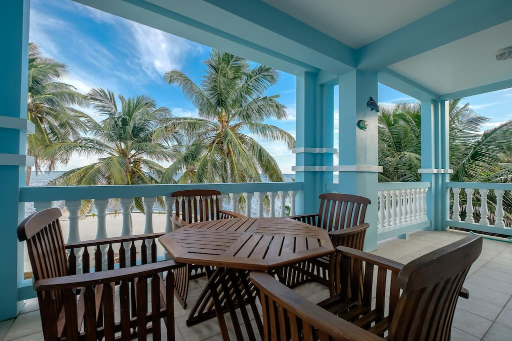 Spectacular view of beach and gorgeous Caribbean beyond from your second floor balcony!