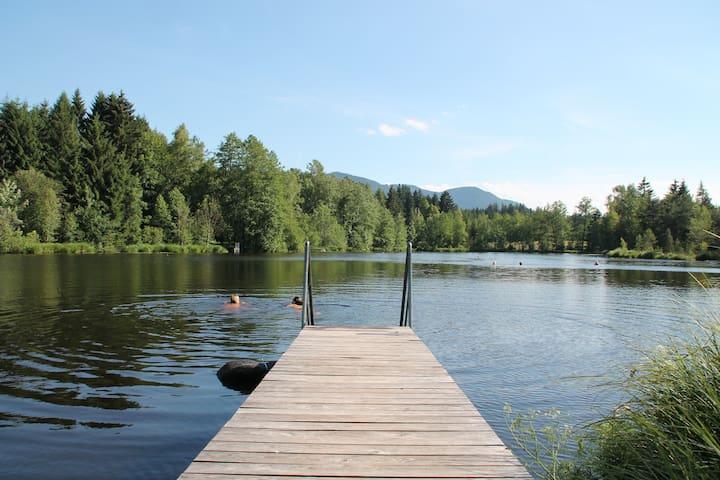 Urlaub auf dem Langerhof-Seeblick - Bad Heilbrunn - Apartamento