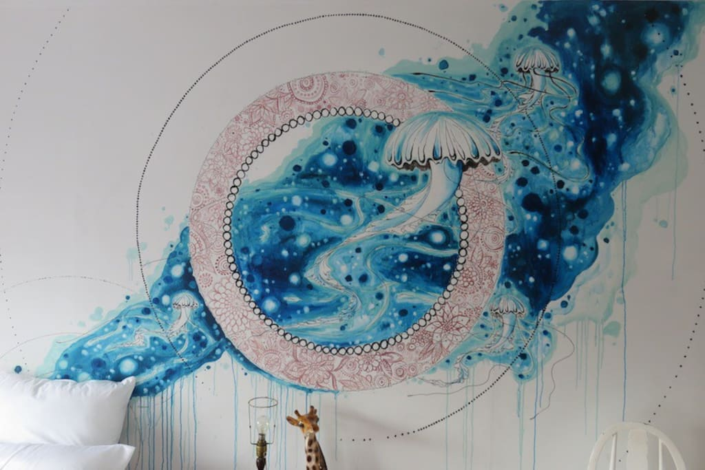 Wall mural by Juliette Claire.