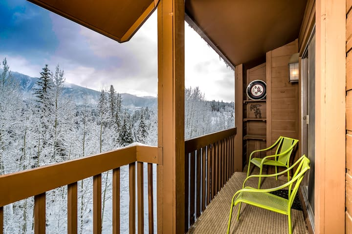 Other half of our rarely found double-sized deck, revealing secluded feel, and majestic views of Needles Mtn Range.