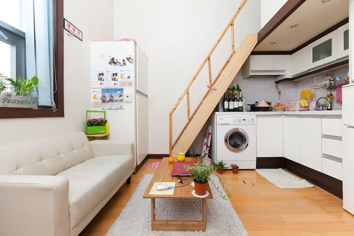 지하철역 근처의 깔끔하고 편리한 --- 복층 오피스텔  - Eunpyeong-gu - Flat