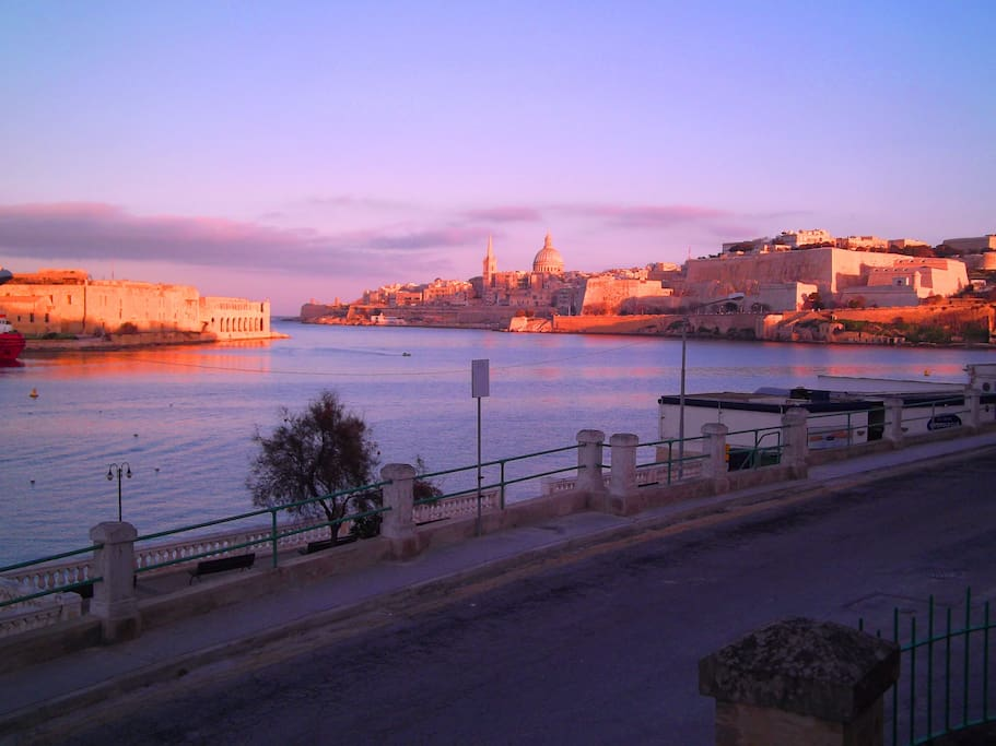 View of Valletta from our Terrace