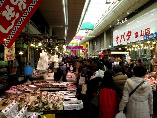 You can visit popular local food market. 10 minutes by bicycle. 15 minutes by foot.