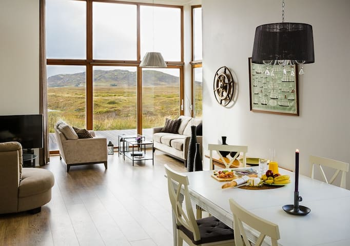 New Luxury Riverfront Scenic View - On Golden Circle Route - Cabane