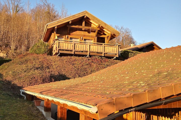 Chalet in lovely, rich forest setting with a beautiful view.
