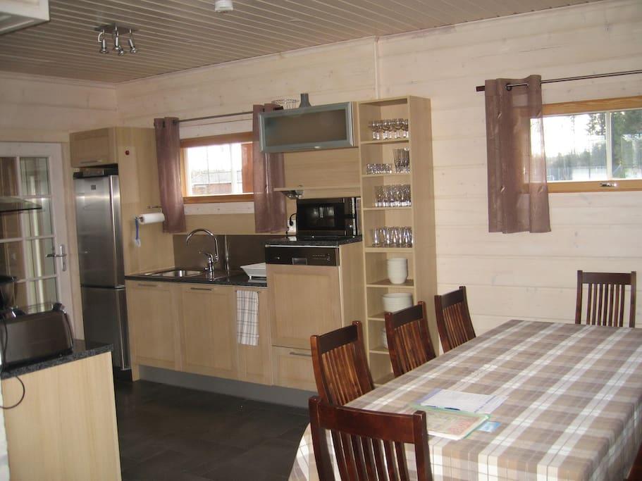 Кухня в коттеджe Saimaa Lakeside