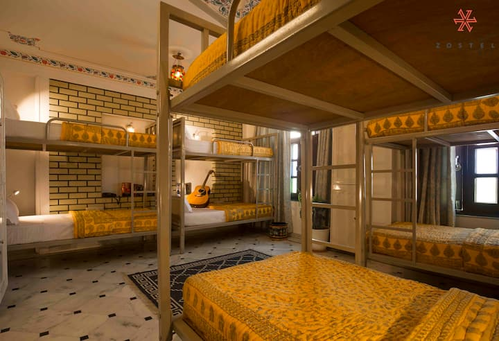 A Bed in Superior 8 Bed Mixed Dorm in Udaipur