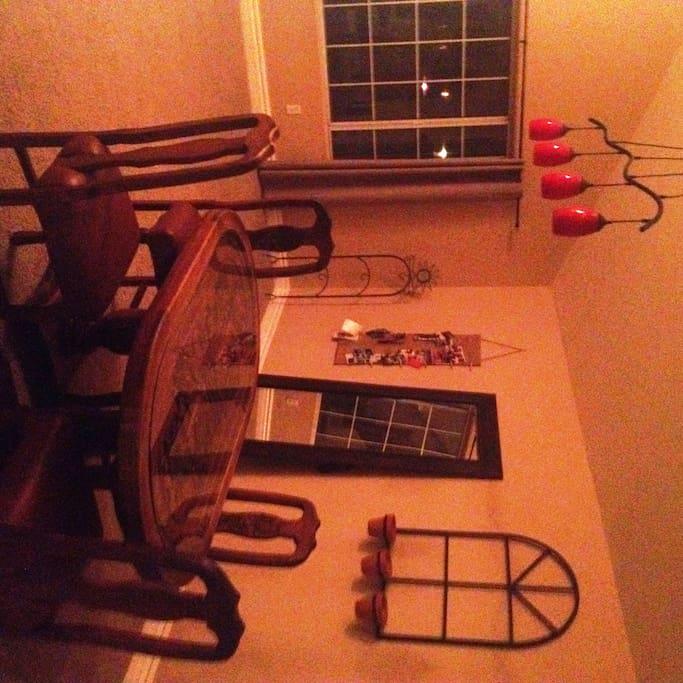 Large diningroom + livingroom downstairs.