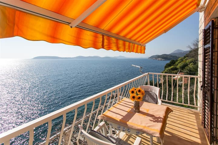 Apartments Neve - Two-Bedroom with Sea View - Zaton - Hus