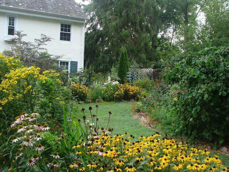 1750's Pennsylvania farmhouse garden and retreat