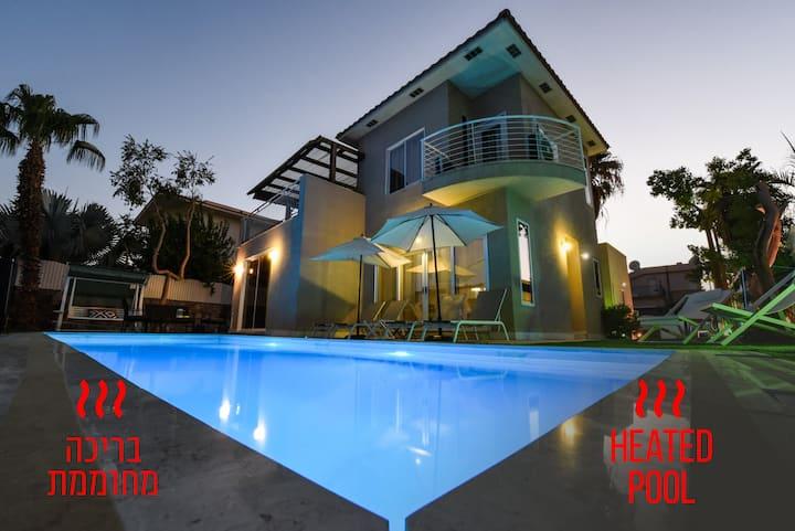 Villa Or - heated pool   וילה אור- בריכה מחוממת