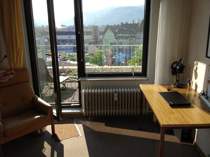 Sunny apartment, central location, balcony, garage