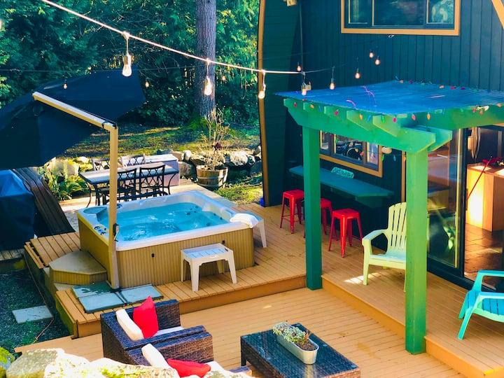 """""""A-Frame Hot-Tub Wonderland"""" a restful retreat !"""