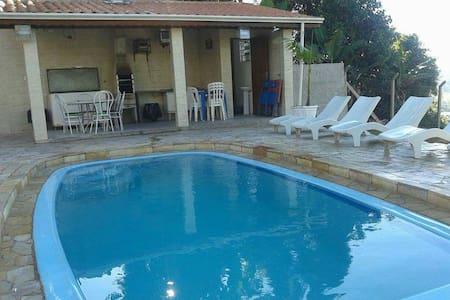 Chácara com piscina e churrasqueira - Serra Negra - Casa de campo