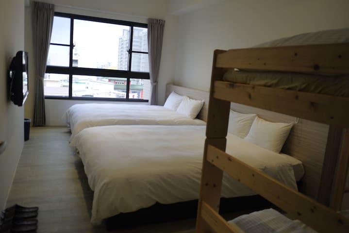 高雄駁二兩大床上下鋪KHH Private room near MRT - Yancheng District - Apartamento