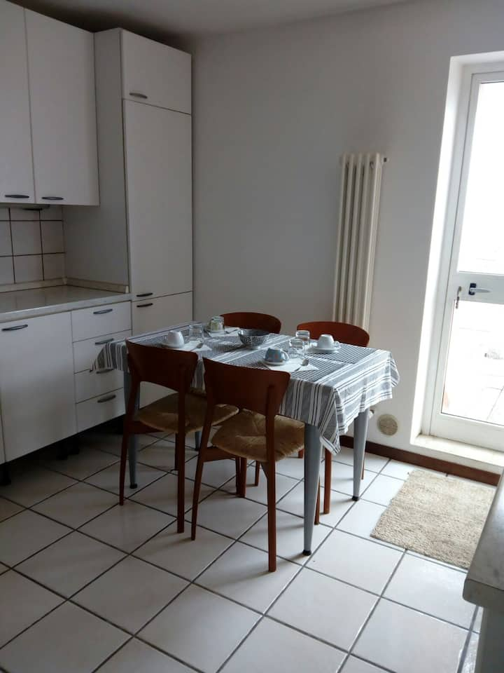 1-4 prs. apt. 1 hour from Venice by train or car