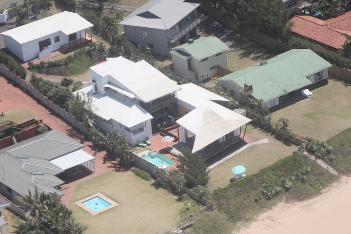 Beautiful beach house with direct beach access