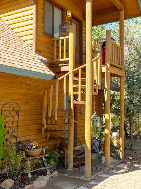 The Birds Nest is a 2 story loft.