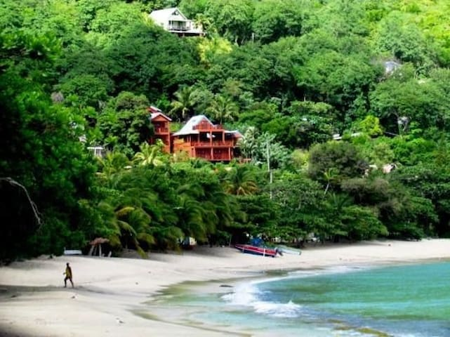 Just above Lower Bay beach and The Caribbean Sea
