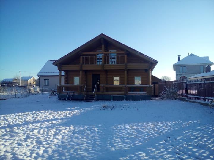 2-х этажный Дом с баней на дровах
