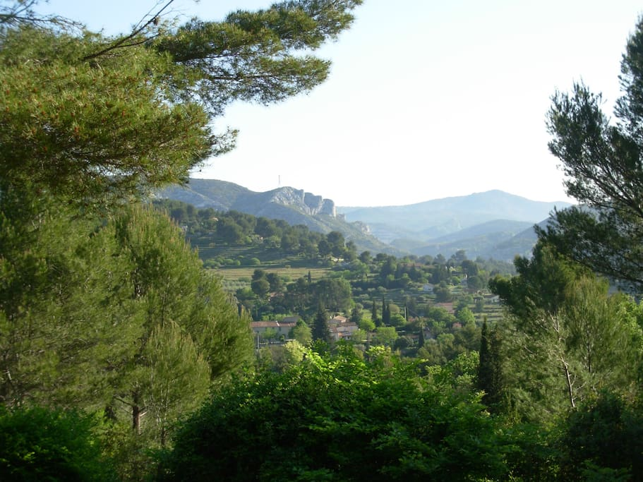 Roquevaire village below in the valley