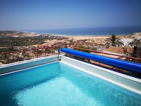 Roof top βίλα πισίνα.
