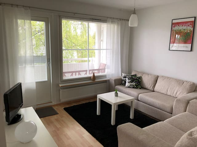 Apartment with sauna in a peaceful neighbourhood