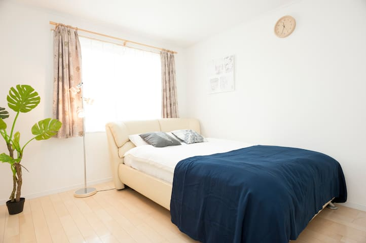 (3F,Bed room①) a double size bed **2 single size sofa beds are provided for additional guests.