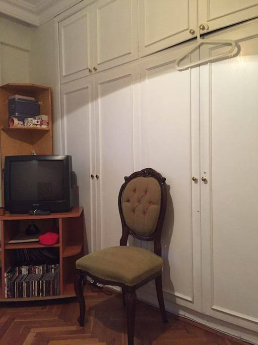 tv and the closet