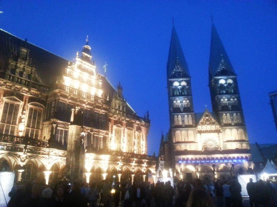 Bremer Rathaus und der Dom