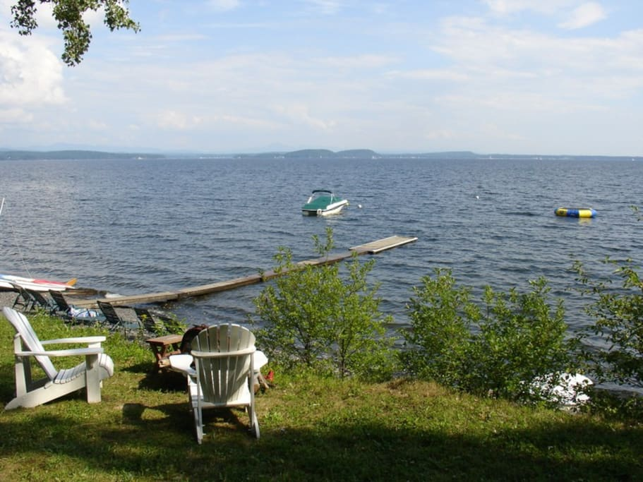 The point cottage at tree tops cottages cabins for rent for Lake champlain cabins and cottages