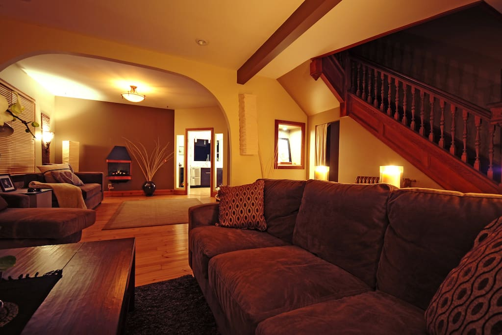Ample couches for enjoying movies,books,n music