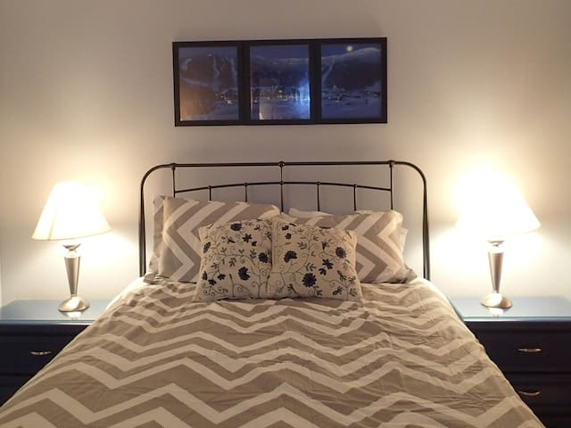 2nd bedroom has a brand new queen bed and mattress with a comfy down comforter.
