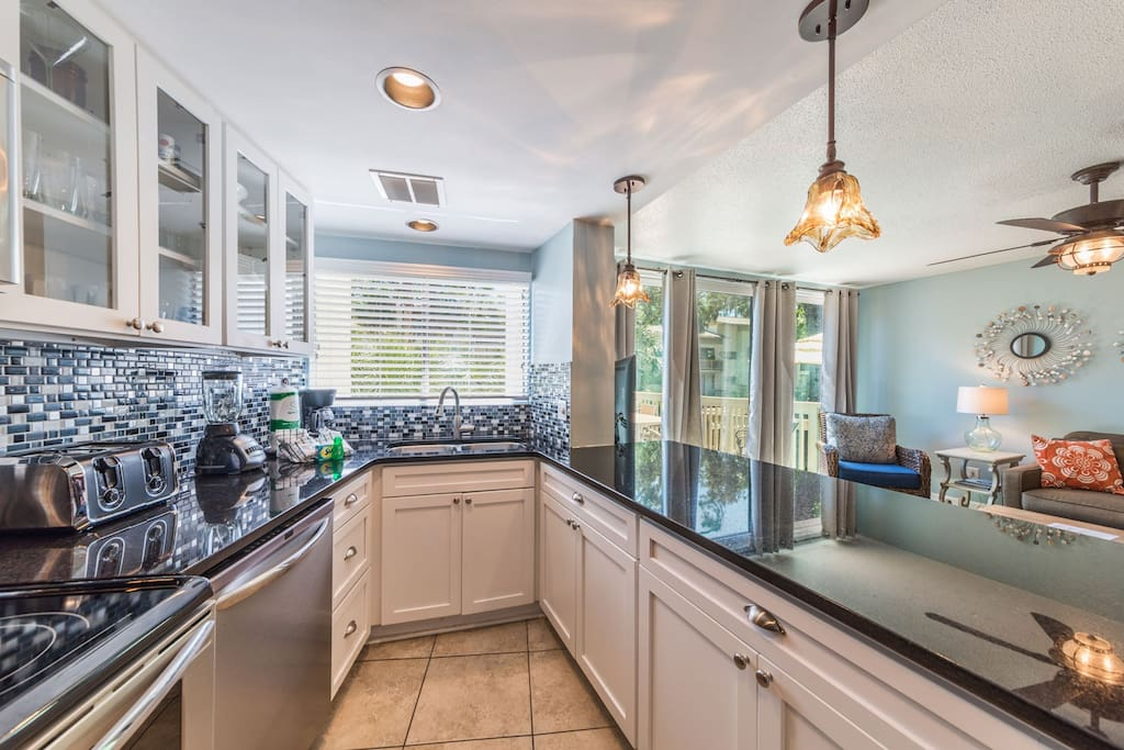 Newly remodeled kitchen with all new appliances.