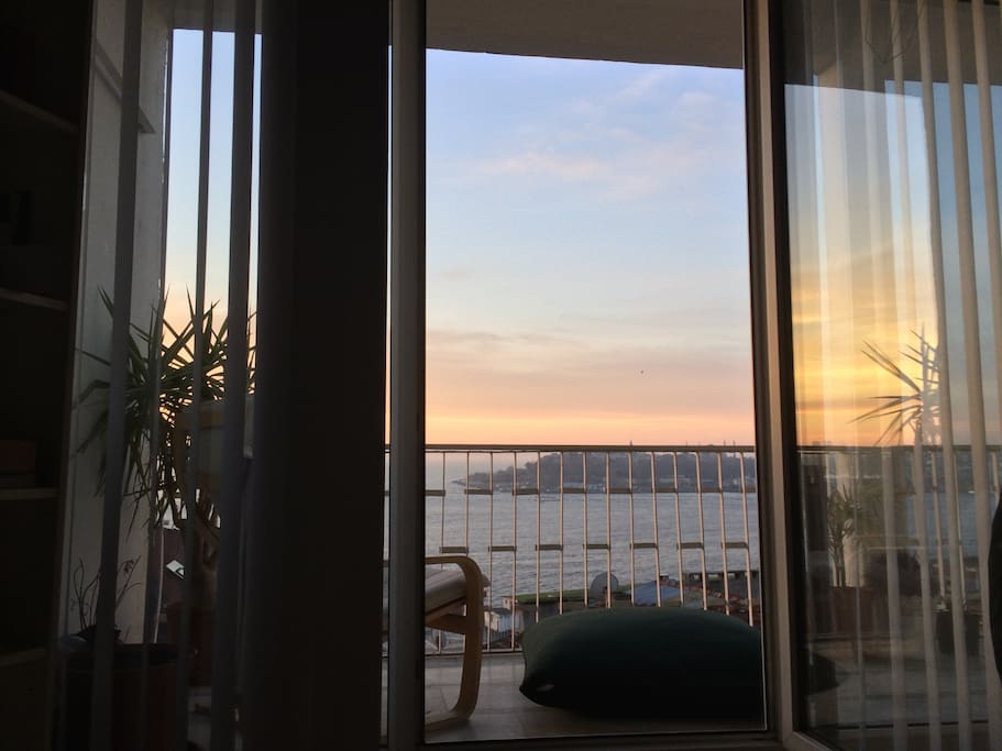 Sunset from the bed.
