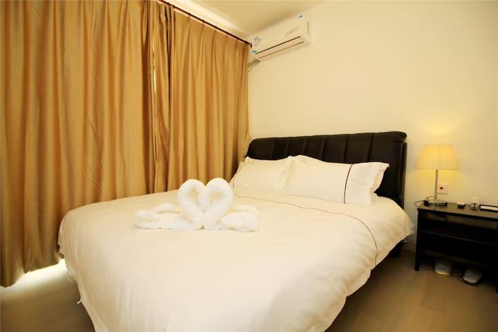 拜登观邸度假公寓(烟台马尔贝拉)豪华海景单卧套房 - Yantai - Apartamento