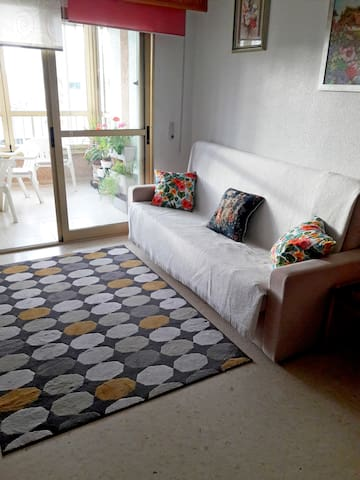 Cosy apartment with a balcony, nice view, AC, pool