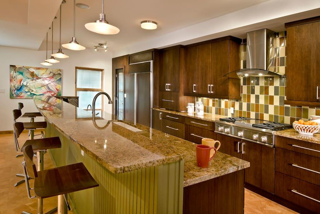 Fabulous galley style kitchen.