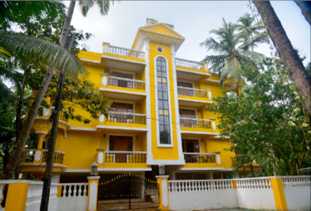 front view of Antonio's Residency, Betalbtim, Goa, India