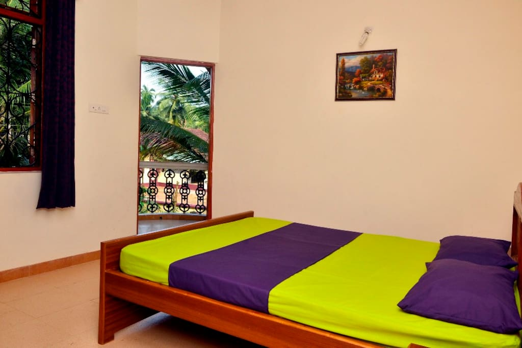 BR view with king size bed: Antonio's Residency Goa, Betalbatim, Goa, India.